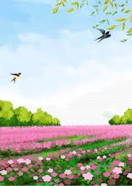 الاعتدال الربيع زهور الربيع مجال الخلفية التوضيح الإعتدال الربيعي