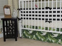 custom crib bedding in black white gold