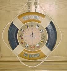 new nautical wall clock life raft with