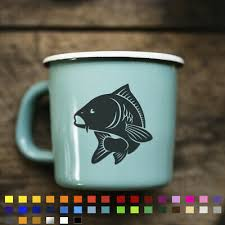 Carp Fishing Sticker Decal For Mug Cup Box Laptop Wall Hunter Crew Bait Hooks Ebay