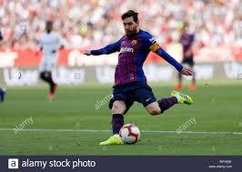 Lionel Messi (FC Barcelona) visto in azione durante la Liga match ...