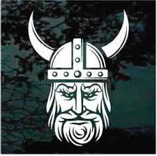 Viking Head Car Window Decals Custom Stickers Decal Junky