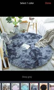Fluffy Round Rug Carpets For Living Room Decor Faux Fur Rugs Kids Room Long Plush Mats Furniture Others On Carousell