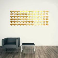 8pcs 3d Diy Tile Square Wall Stickers Mirror Removable Wall Decal Room Decor
