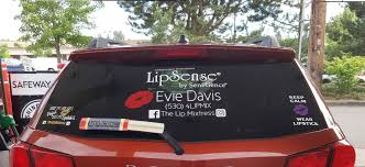 Lipsense Reflective Lipstick Wipertag Advertising Covers Attach To Rear Wiper Blades Wipertags