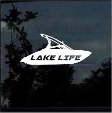 Lake Life Ski Boat Window Decal Sticker Custom Sticker Shop