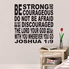 Joshua 1v9 Vinyl Wall Decal 5 Be Strong And Courageous Church Youth Room Christian Subway Art