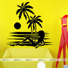 Wall Decals Summer Beach Decal Living Room Decor 265 Decalhouse