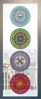 The Decal Store Com By Yadda Yadda Design Co Clr Wnd 4 Pack Element Mandala 7 5 See Through Vinyl Window Dec