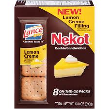 lance nekot lemon creme cookie