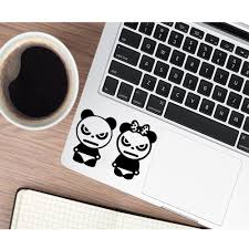 Fun Panda Black Partial Skin Stickers For Vinyl Stickers For Laptop Protective Decal Skin Laptop Skins Aliexpress