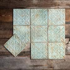 antique green color tin ceiling tile