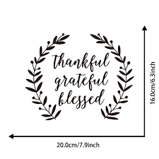 Thankful Grateful Blessed Art Vinyl Mural Home Room Decor Wall Sticker Sale Price Reviews Gearbest