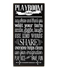 Vinyl Crafts Black White Playroom Rules Wall Art Best Price And Reviews Zulily