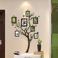Wall Stickers Murals Acrylic Wall Stickers 3d Crystal Wall Decals Family Tree With Frames Small Offers Wall Stickers Wall Murals Wall Stickers Wall Murals