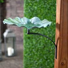 Achla Lily Leaf Bird Bath With Mounting Bracket Decorative Garden Bird Baths Garden Birdbaths At Songbird Garden