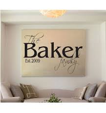 Family Name Wall Quote Sign Vinyl Decal Sticker Wall Lettering Etsy