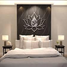 xl om lotus flower metal wall art extra