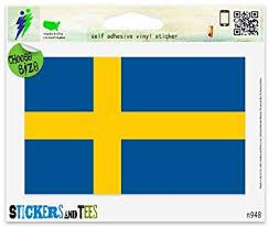 Amazon Com Sweden Swedish National Flag Car Sticker Indoor Outdoor 5 X 4 Automotive