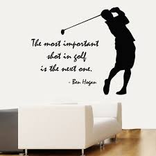 Golfer Wall Decals Quote Golf Player Vinyl Decal Sticker Home Sport Decor Kk804 Golf Room Golf Decor Sports Wall Decals
