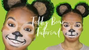 teddy bear makeup tutorial halloween