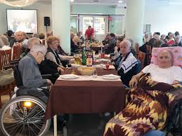 Retirement home birthday party