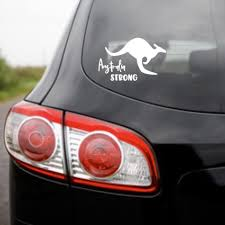 Australian Strong Car Decal Pretty Little Designs Pty Ltd