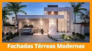 fachadas de casas térreas modernas