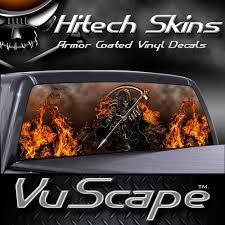Amazon Com Vuscapes Grim Reaper Rear Window Truck Graphic Decal Suv View Thru Vinyl Automotive