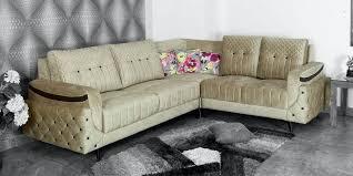 leeza 6 seater corner sofa in light