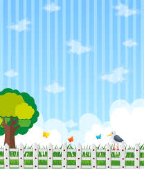Background Design With Garden And Blue Sky Download Free Vectors Clipart Graphics Vector Art