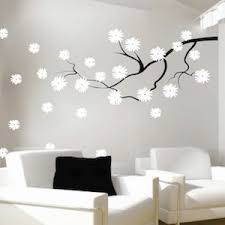 Contemporary Branch Flowers Vinyl Wall Decal Trendy Wall Designs