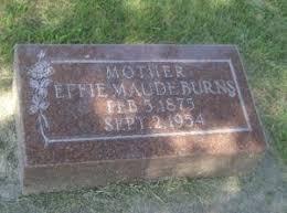 Effie Maude (Hawkins) Burns (1875-1954)   WikiTree FREE Family Tree