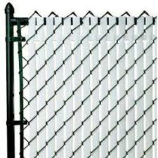 Pexco 6 In X 70 In White Chain Link Privacy Slat Chain Link Fence Chain Link Fence Cover Fence
