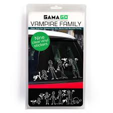 Vampire Family Car Stickers 365giftshop