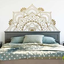 Gold Mandala Religion Wall Sticker For Living Room Kids Room Yoga Vinyl Decals Home Decor Bedroom Decoration Wallpaper Aliexpress