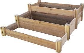 multi level rustic raised garden bed