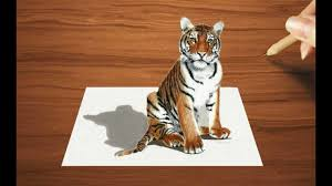 Colored Pencil Drawing of a Young Tiger ...