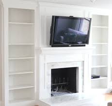 tile over a brick fireplace surround
