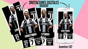 Invitacion Tarjeta Juventus Digital Cumpleanos 160 00 En Mercado Libre