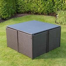 venice cube rattan furniture set