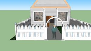 House With White Picket Fence 3d Warehouse