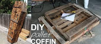 diy pallet coffin tutorial urns