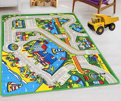Kids Car Road Rugs City Map Play Mat For Classroom Baby Room Non Slip Handcraft Rugs