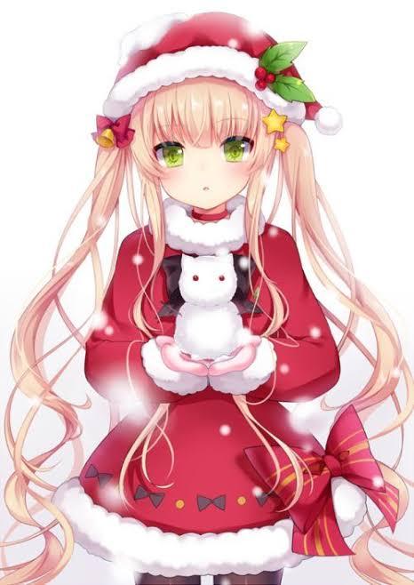 """Resultado de imagem para imagem menina anime natal"""""""