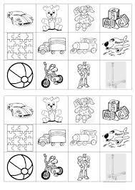 memory game on toys english esl