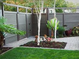 6 Corrugated Metal 8 Tall Total Metal Posts And Trim For A Very Nice Clean Look Backyard Fences Privacy Fence Designs Fence Design