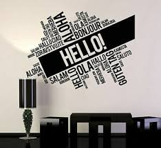 Vinyl Wall Decal Hello Words Cloud Room Office Decoration Stickers Ig4779 Ebay