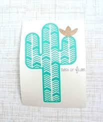 Amazon Com Cactus Vinyl Decal Sticker For Yeti Cup Car Window Decal Laptop Wall Tumbler Or Water Bottle Accessories For Women Mint 3 25 Inches X 2 Inches Handmade