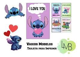Tarjeta Para Imprimir Stitch Varios Modelos 100 00 En